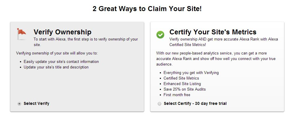 Varify blog or website Alexa no credit card