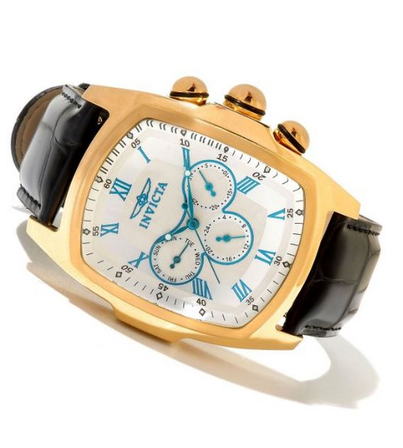 Invicta men's 12642 Lupah Quartz 3 Hard Silver Dial Watch